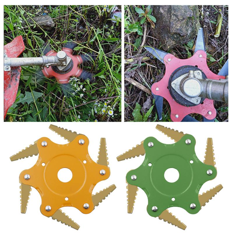 Newest 6T Lawn Mover Trimmer Head Manganese Steel Grass Cutter Durable Brush Cutter Lawnmover Parts For Garden Supplies Tools