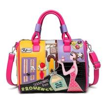 Candy Color High Quality Cartoons Style Purses and Handbag Crossbody Bag Pu Leather Bags Shoulder Bag Female Tote Bag Boston Bag