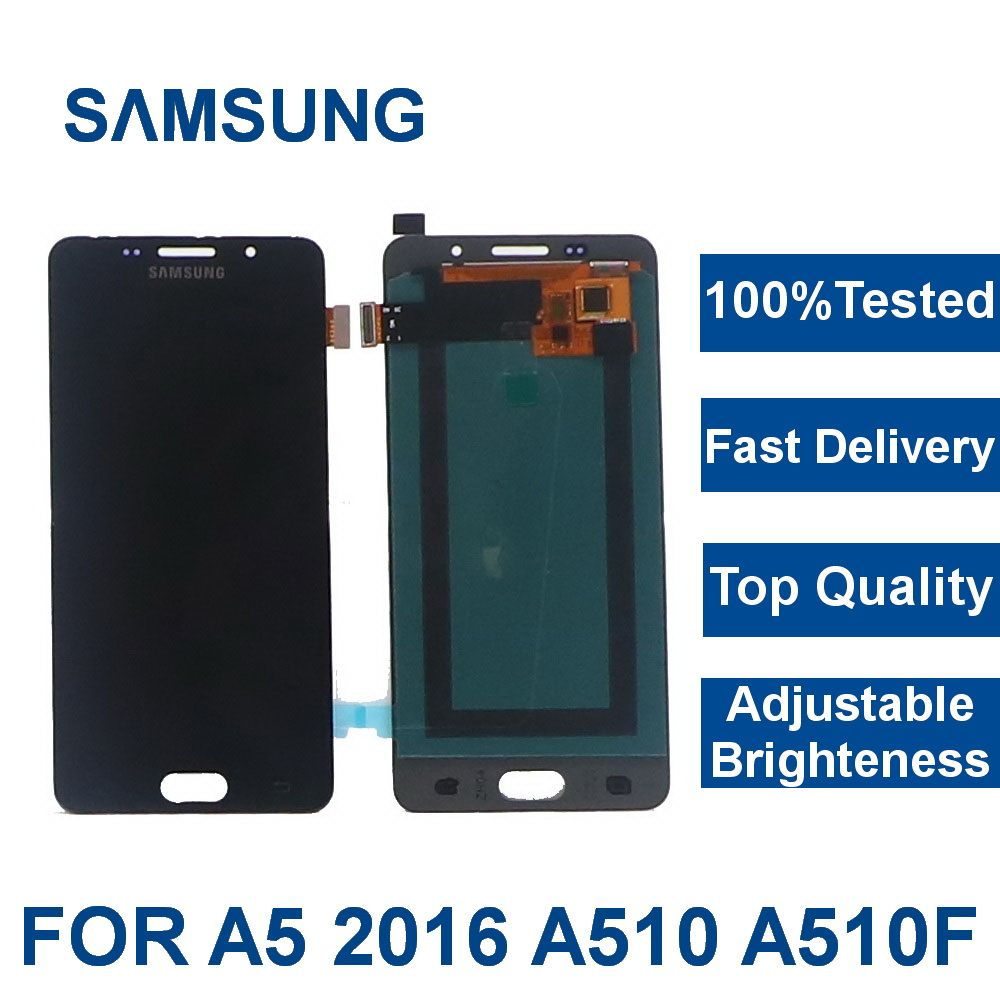 For Samsung Galaxy A5 2016 LCDs Display A510 SM-A510F A510M A510FD Mobile Phone LCD Display with Touch Screen Digitizer Assembly(China)