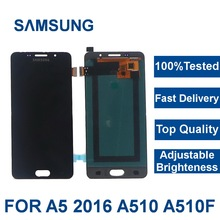 For Samsung Galaxy A5 2016 LCDs Display A510 SM-A510F A510M A510FD Mobile Phone LCD Display with Touch Screen Digitizer Assembly jgaurora a5 3d printer easy to assembly with hd touch display