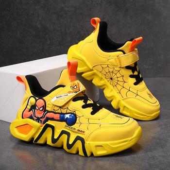 Zapatillas de deporte informales para niños, Zapatos infantiles de cuero, impermeables, para...