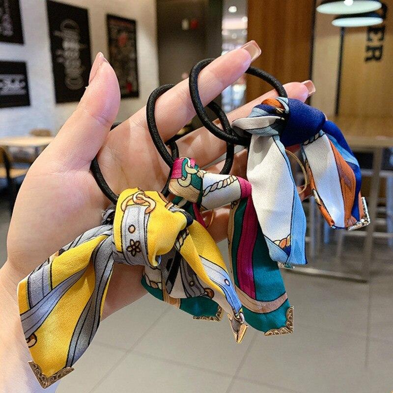 DISCICI NEW Girl Прекрасный волос веревочка лук головы веревка эластичная резина зона простой темперамент волос круг шаровые головы орнамент