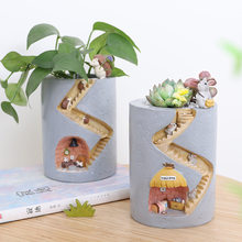 Creative Animal Resin Flower Pot Succulents Rabbit Hedgehog Decoration Hydroponic Container Home Garden Desktop Decoration