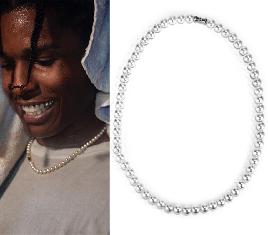 Europe And America Popular ASAP Rocky Wu Yifan Celebrity Style Retro Pearl Necklace Men And Women Hip Hop Choker