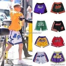 NBA- Chicago Bulls #23 Джеймс Кобе Джордан баскетбольные шорты Ограниченная серия ретро Swingman Джерси сшитые сетчатые мужские спортивные брюки