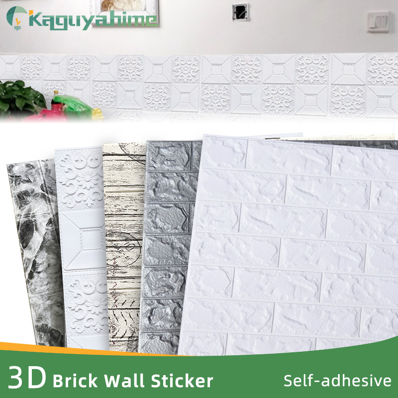 Kaguyahime 3D Wallpaper Brick DIY Waterproof Self-Adhesive Decor Tile Wallpaper For Kids Room Living Room 3D Wall Sticker Brick