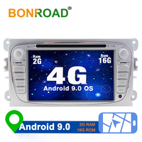 Bonroad Car Multimedia Video Player DVD GPS Android 9 For Ford/Focus/Mondeo/S MAX/C MAX/ Wifi 4G GPS Double din MP3 Touch Screen