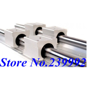 Image 2 - SBR12 12mm lineer ray uzunluğu 300mm 400mm 500mm 600mm 700mm 800mm lineer kılavuz ile SBR12UU lineer blok cnc parçası