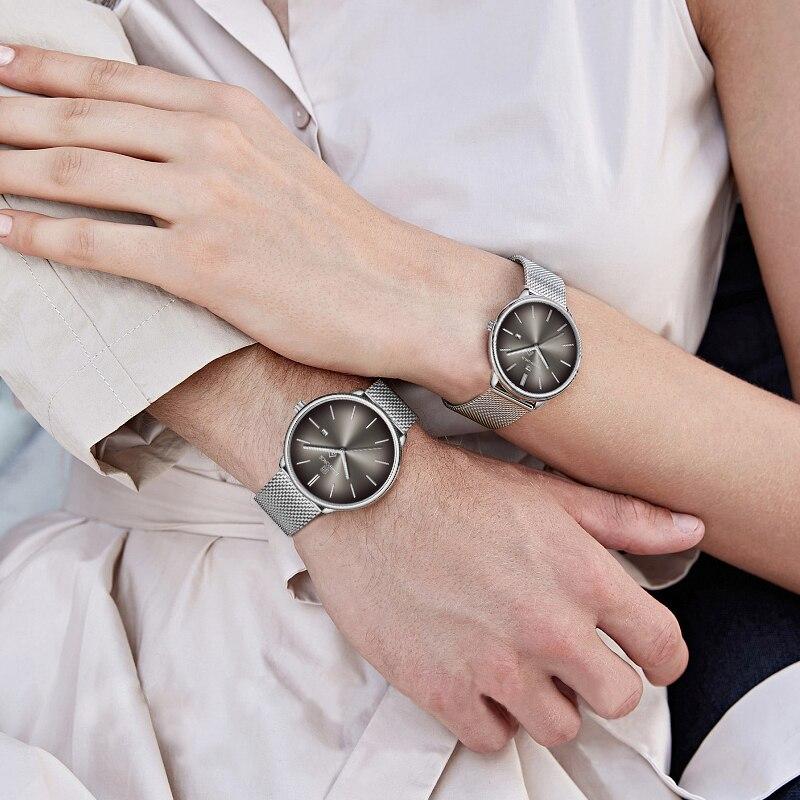 NAVIFORCE Couple Watch Top Brand Men Simple Quartz Watches Men Fashion Stainless Steel Lovers Wristwatch Women Relogio Masculino