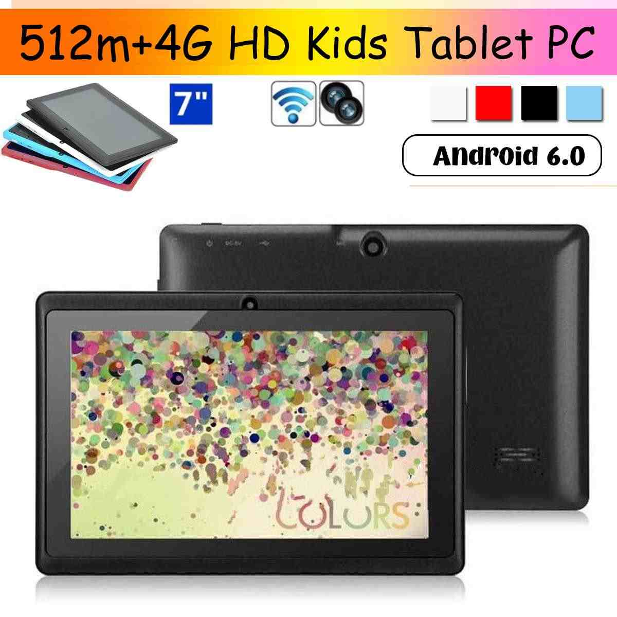 Tablet PC 7 zoll HD 512M + 4G Kinder Kinder Pad Android 6,0 Quad Core 4000mAh WIFI bluetooth Navigation Tab touchscreen