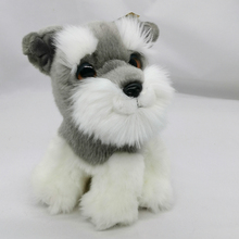 """"""" реалистичный Стандартный Шнауцер плюшевые игрушки мягкие милые с большими глазами настоящая жизнь собака плюшевый щенок игрушки животных подарки для детей"""