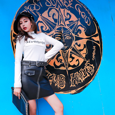 Image 3 - 2018 New Fashion Genuine Sheep Leather Skirt G5Skirts
