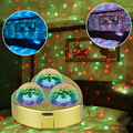 WUZSTARSound Activated Rotating Disco Ball DJ Party Lights 3W 3LED RGB LED Stage Lights For Christmas Wedding sound party lights