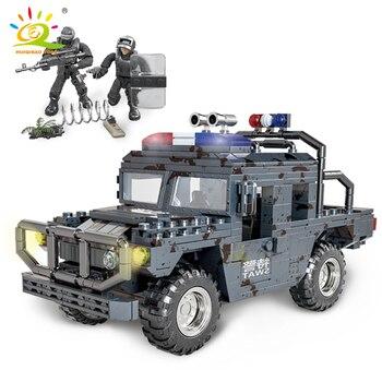 """Конструктор HUIQIBAO """"Военный грузовик"""", 544 шт. 6"""