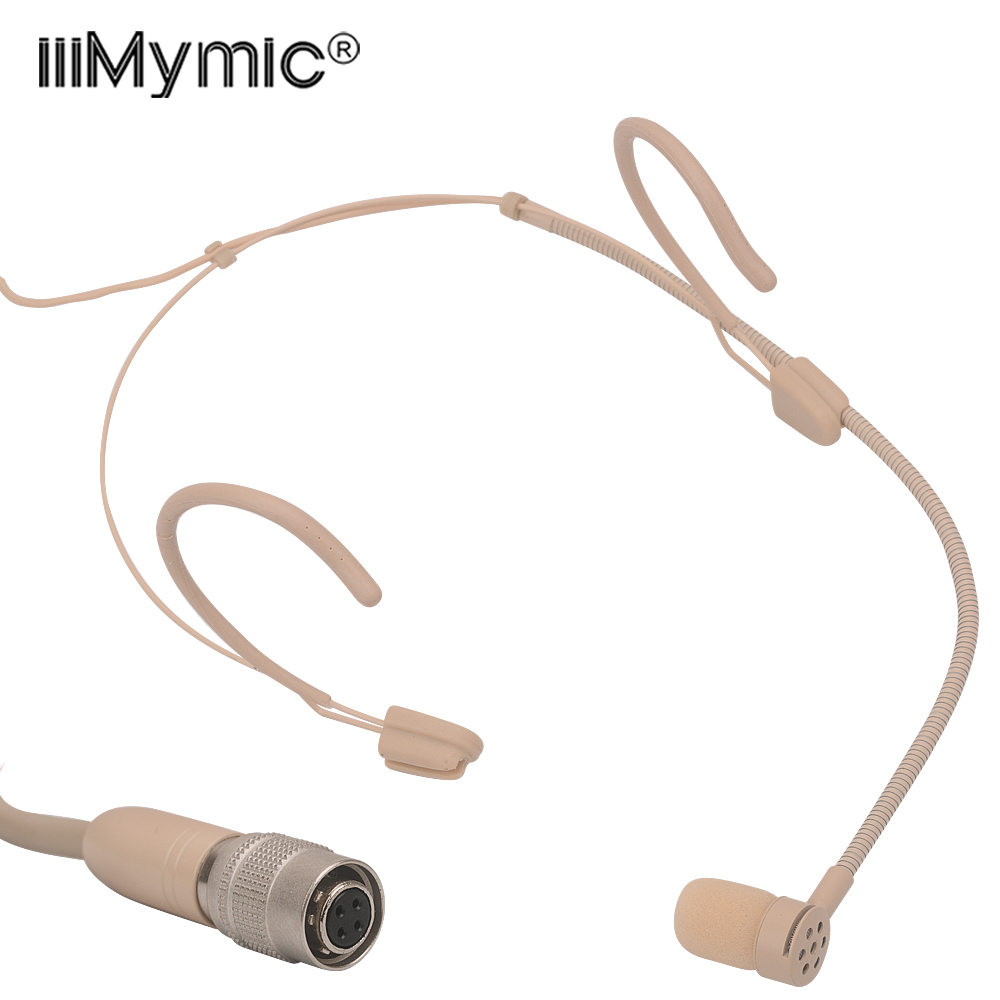 Perfect For Singing Concert Pro Headset Microphone Mini 4pin Unidirectional Condenser Mic For Audio Technica Wireless Bodypac Microphones Aliexpress