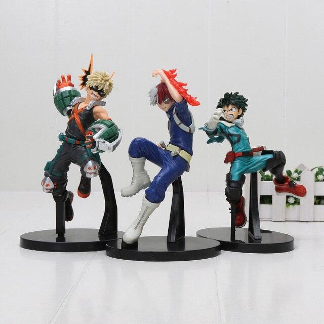 My Hero Academia Figure Toy Vol1. Smack Midoriya Izuku Shouto Todoroki Katsuki Boku no Hero Academia Model Figurals Toy 16cm