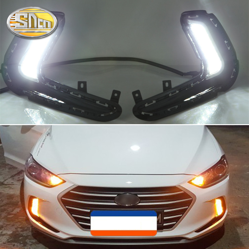 LED 2Way Daytime Running Light DRL Day Light For Hyundai Elantra 2014~2015
