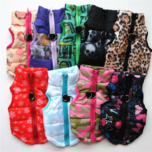 Жилет для собак, зимняя теплая одежда для собак, куртка с пряжкой, одежда для домашних животных, осенняя зимняя одежда для маленьких и больших собак