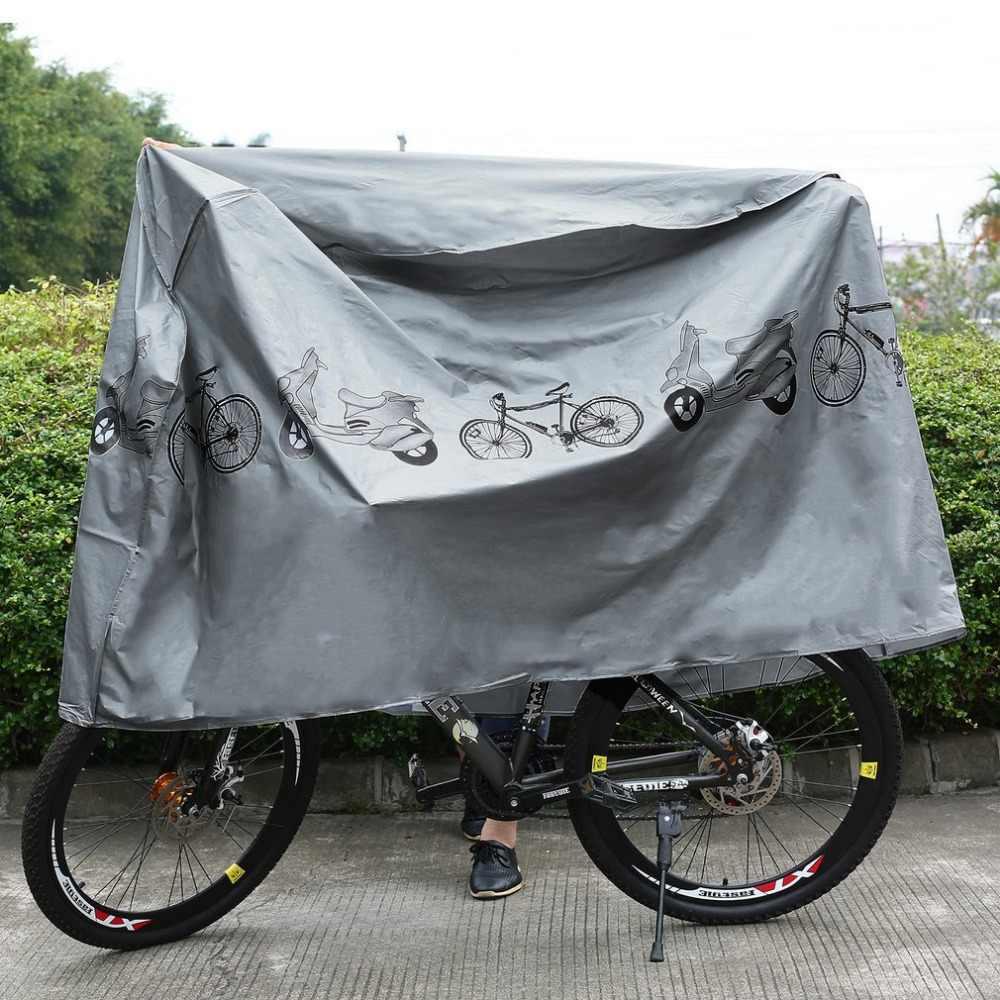 دراجة هوائية جبلية دراجة الدراجات النارية المطر الغبار حماية غطاء مقاوم للماء في الهواء الطلق سكوتر غطاء رمادي انخفاض الشحن
