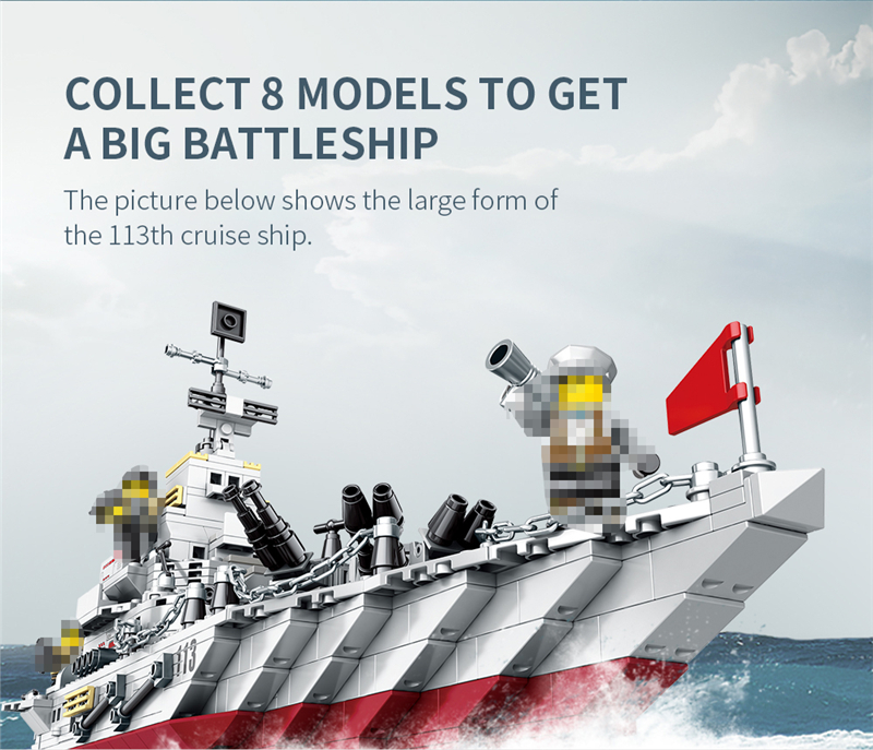 1000+ PCS Military Warship Navy Aircraft Army Figures Building Blocks LegoINGlys Army Warship Construction Bricks Children Toys (7)