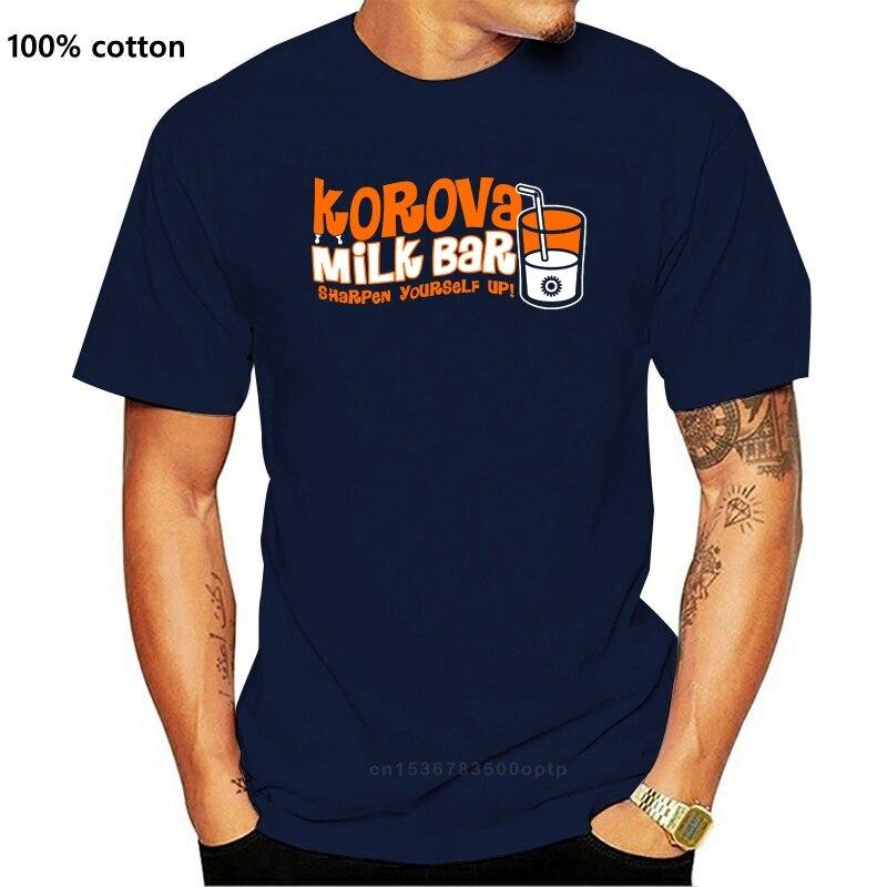 Korova-Camiseta con diseño de barra de leche para hombre, remera Retro no oficial inspirada en el reloj, camiseta de marca de moda con estampado de Hip Hop
