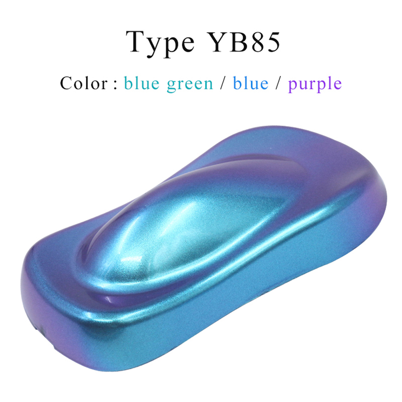 YB85 Chameleon Pigments Acrylic Paint Powder Coating Chameleon Dye For Cars Arts Crafts Nails Decoration 10g Painting Supplies