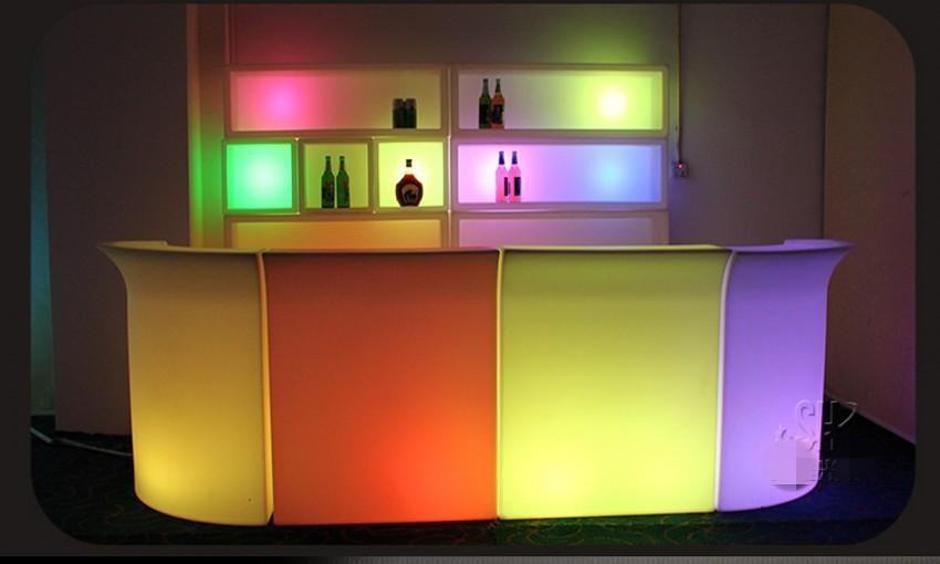 16 Color Changing LED  Illuminated Bar Counter Waterproof Rechargeable Rundbar Bar Disco KtV Club Waiter Cocktail Bar Tables