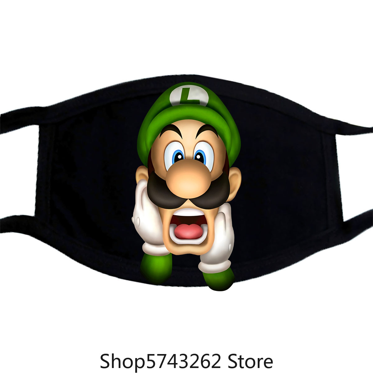 Luigi S Mansion Luigi Video Game Mask Washable Reusable Mask For Unisex Black
