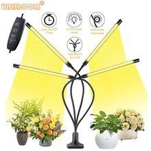USB 5V Timer Dimmable Full Spectrum 4 Head LED Grow Light 40W 360Degree Flexible Clip Phyto Lamp Indoor Sunlight Plant Veg Lamp