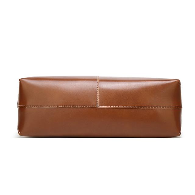 100% Genuine leather Women handbags  New Women's Korean version of big sweet fashion soft bag slung one shoulder 5