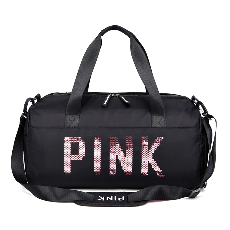 2019 Sequins Black Gym Bag Women Shoe Compartment Waterproof Sport Bags For Fitness Training Yoga Sac De Sport