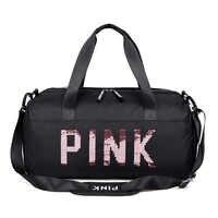 2019 lantejoulas preto saco de ginásio feminino sapato compartimento sacos de desporto à prova dwaterproof água para treinamento fitness yoga sac de esporte