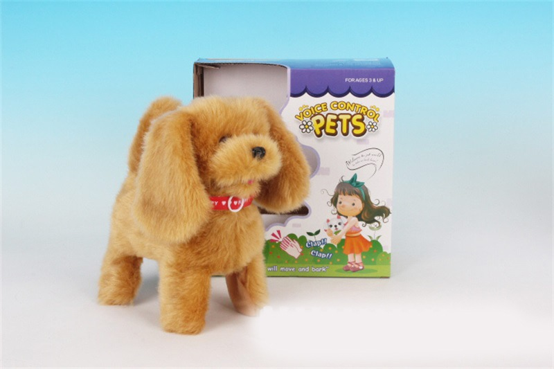Electric Voice Electric Dog Electronic Pet Cat Plush Toys Singing Motion Machinery Toy Dog