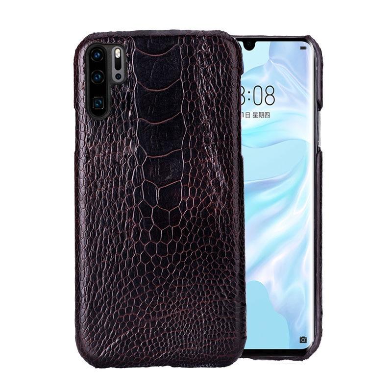 Чехол для телефона для huawei P20 P30 lite Коврики 10 20 Pro lite Y6 Y9 2018 P Smart 2019 натуральный страусовый кожи для Honor 7A 7X8X9 10 lite - 2