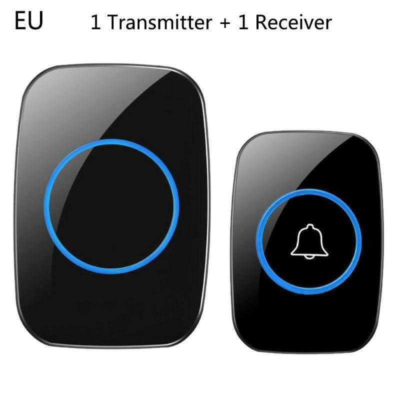 Newly Home Welcome Doorbell Intelligent Wireless Doorbell Waterproof 300M Remote EU AU UK US Plug Smart Door Bell Chime