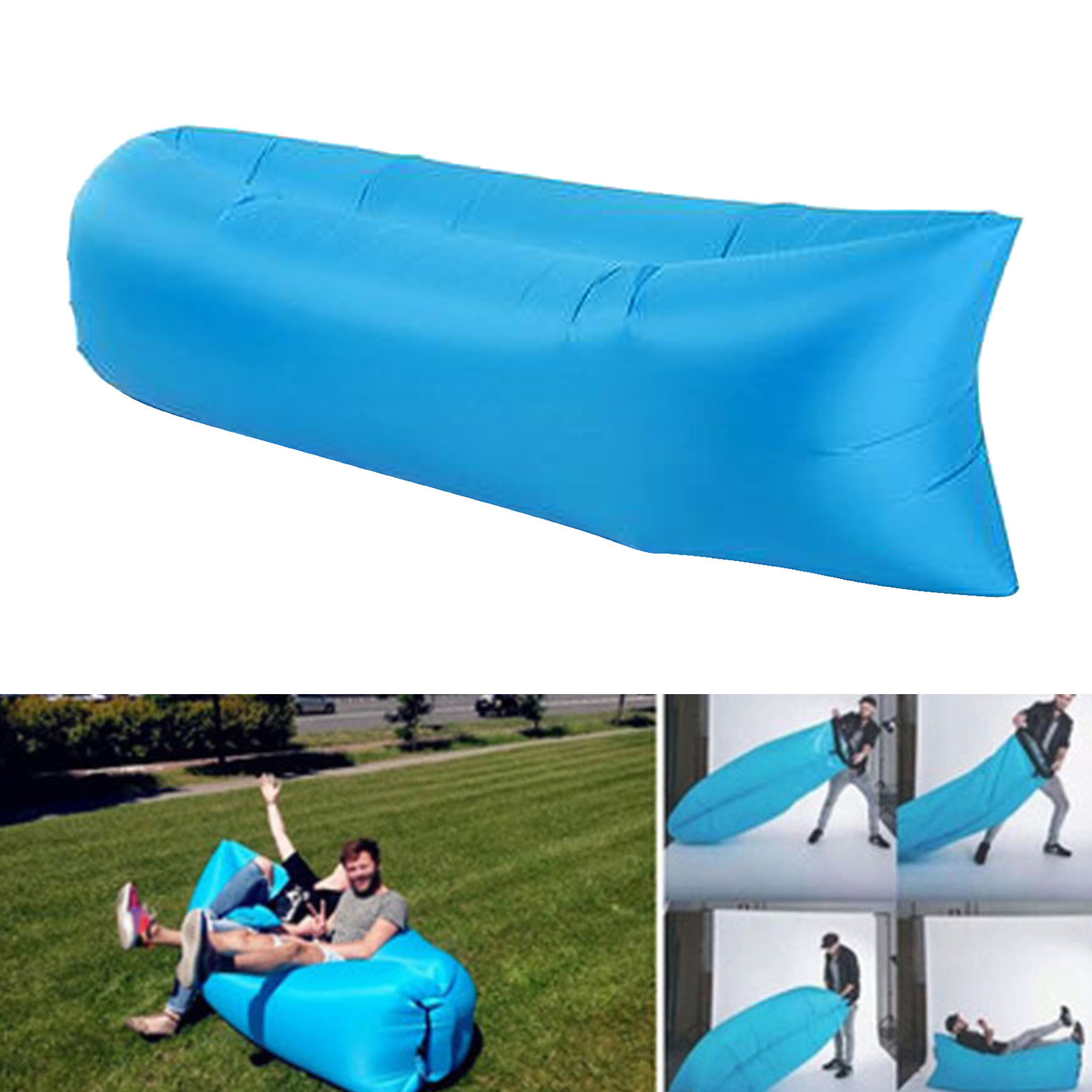 Inflatable Air Bed Sofa Lounger Couch Chair Bag Hangout Outdoor Camping Beach Inflatable Couch Sofa Indoor Outdoor Adults Kids