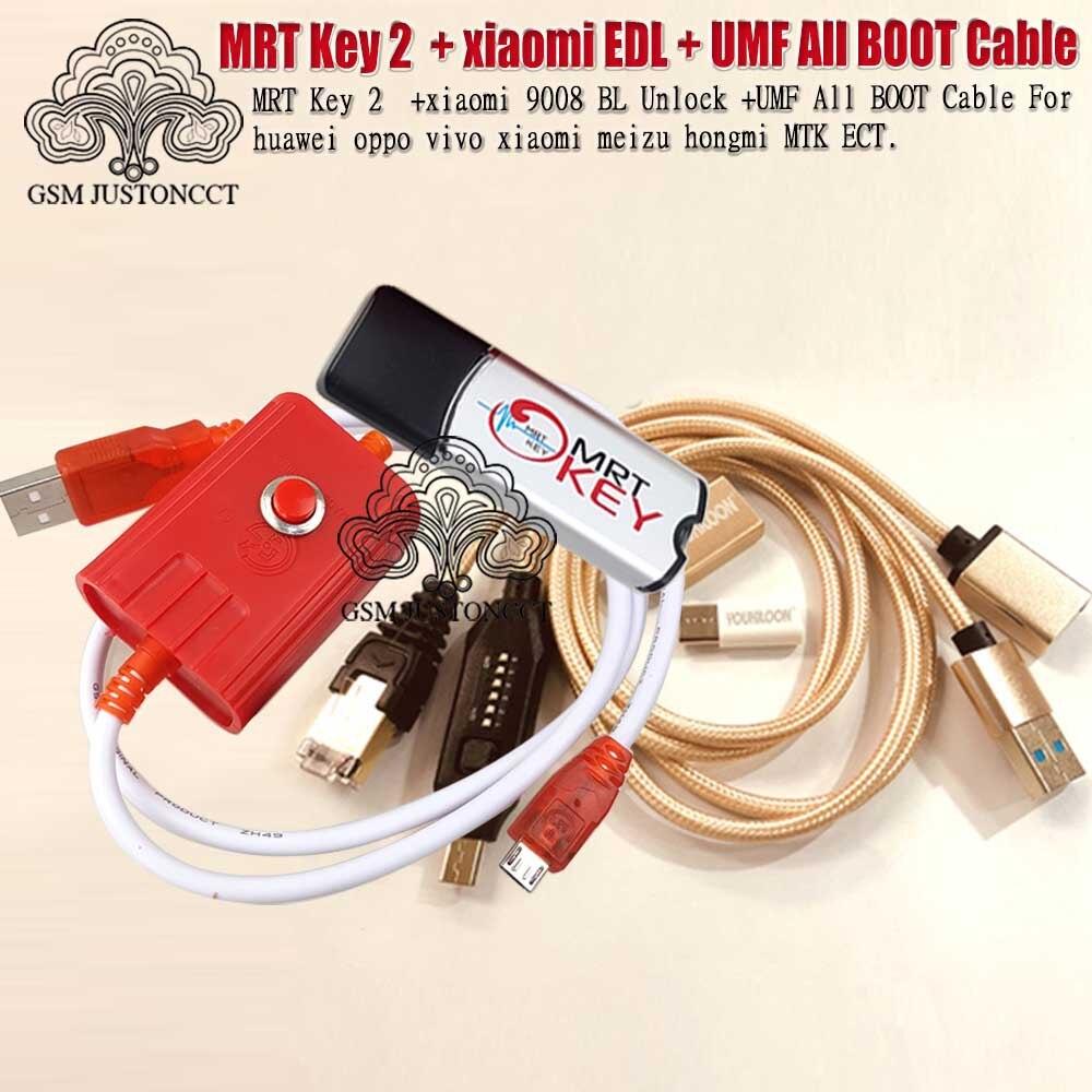 2020 clé MRT d'origine 2 Dongle + pour GPG xiao mi câble EDL + UMF tous les câbles de démarrage (commutation facile) et mi cro USB à type-c