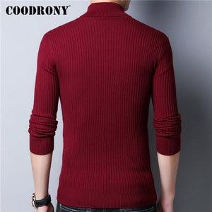 Image 3 - COODRONY סוודר גברים סתיו חורף עבה חם צמר סוודר גברים Streetwear אופנה Slim Fit גולף סריגי למשוך Homme 91097