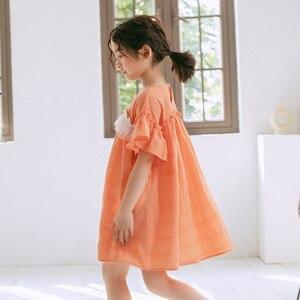 Image 4 - 2020 ילדים חדשים תחרה שמלת מותג בנות שמלת תינוק נסיכת שמלת ילדים קיץ שמלת כותנה אקארד חמוד פעוט בגדים, #5570