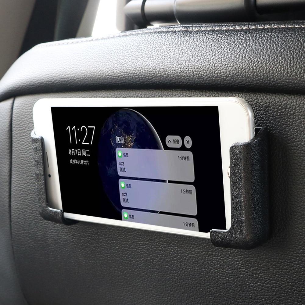LEEPEE Adjustable Width Car Interior Accessories Multifunction Car Cell Phone Holder GPS Display Bracket Self-adhesive