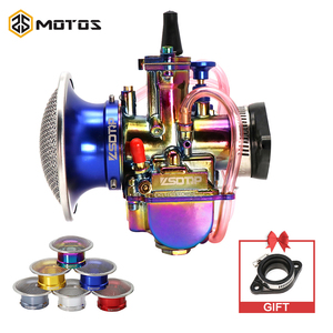 ZS MOTOS 3Pcs/set PWK Carburetor + Adapter + Air Filter With Mesh For PWK 21 24 26 28 30 32 34mm For 50-250cc Motorcycle Carb