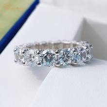 Wong Rain Classic 100% 925 Sterling Silver Oval Cut Created Moissanite Diamonds Gemstone Engagement Couple Rings Fine Jewelry