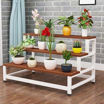 Balkon estantes de madera Para Jardin Estanteria Para Macetas soporte exterior balcón...