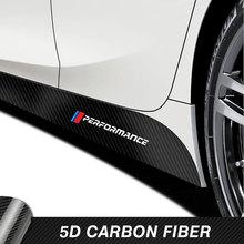 2 Pcs Car Door Side Skirt Stripes Sticker M Performance Body Vinyl Decal For BMW F20 F30 F15 F16 G30 F10 Z4 E60 E90 G20 F31 F32