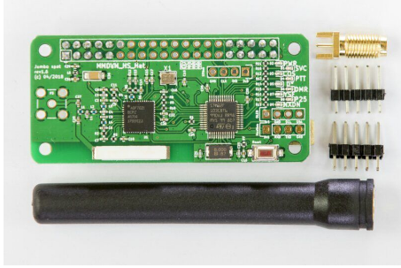 2019 V1.7 Jumbospot UHF VHF UV MMDVM Hotspot pour P25 DMR YSF DSTAR NXDN framboise Pi zéro 3B + TCXO d'origine + antenne embarquée