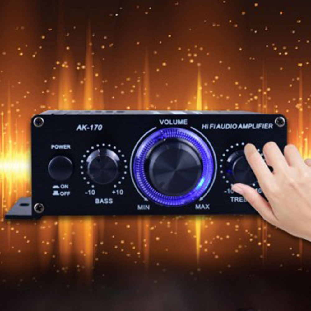 400W DC12V No Bluetooth HiFi Power Amplifier Car Stereo Music Receiver FM Radio MP3 Brand New And High Quality|Stereo Amplifiers|   - AliExpress