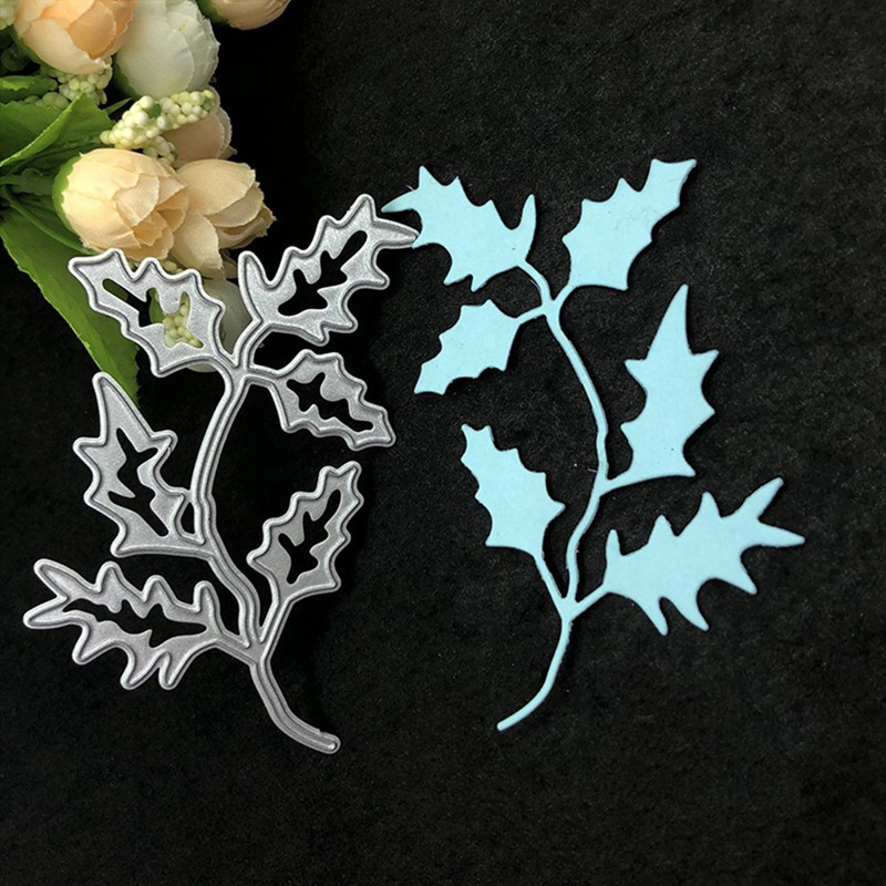 Green Leaves Metal Cutting Dies Stencils For DIY Scrapbooking Photo Album Die Cuts Decorative Embossing Paper Cards Crafts Tools image