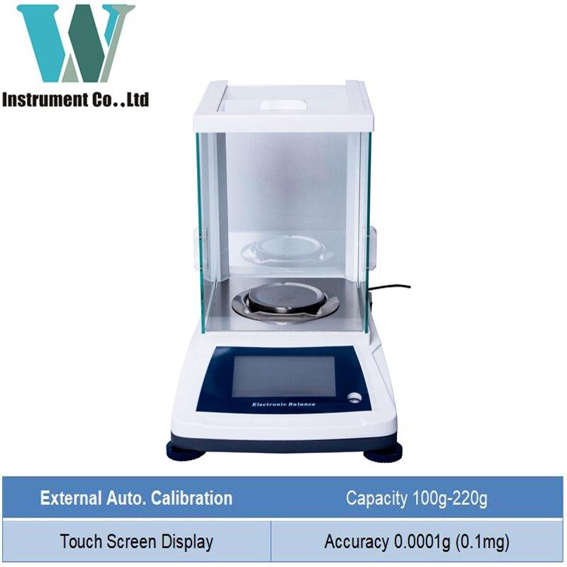 Balance analytique chimique 100g 200 g 0.1mg/Balance numérique précise/Balance de laboratoire de haute précision Balance de bijoux 0.0001g