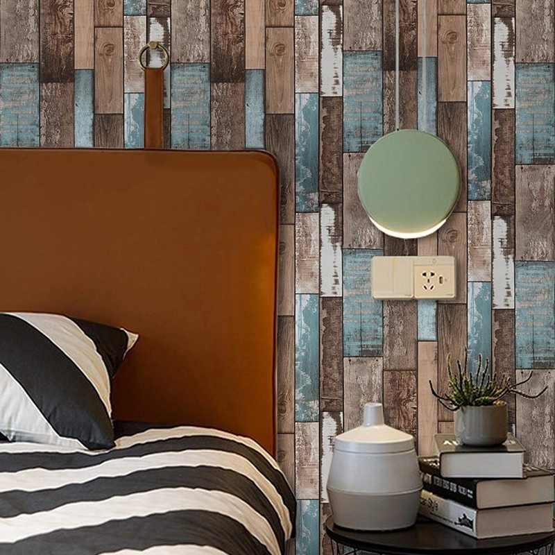 Dark Brown Rustic Wood Contact Paper Peel and Stick Wallpaper Self Adhesive Home