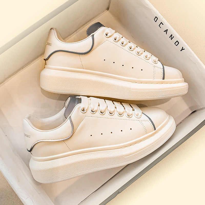 Лидер продаж, Высококачественная Белая обувь, классическая спортивная обувь для пар, Мужская Универсальная кожаная Белая обувь, женская прогулочная обувь